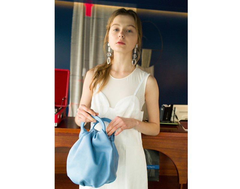 Posy Bag (Beige/Blue)